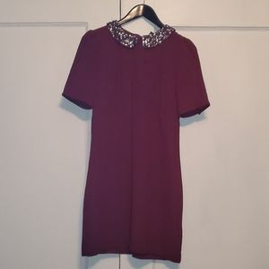 H&M festive 8 dress with jeweled collar
